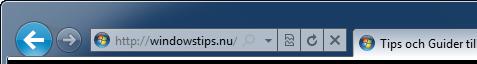 Internet Explorer 9 adress och sökfält