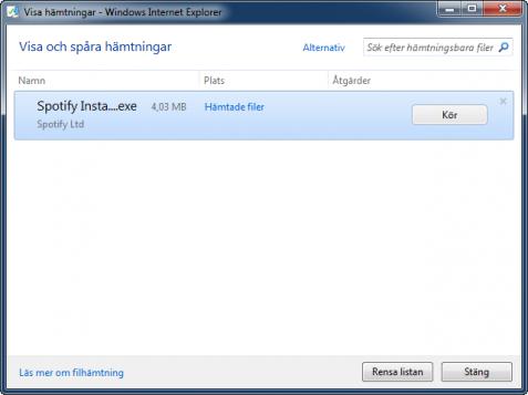 Internet Explorer 9 Download Manager