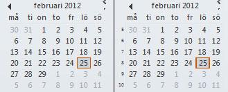 Outlook 2010 veckonummer före och efter