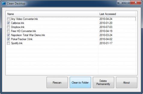 Program Clean Desktop