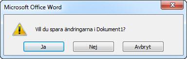 Fråga att spara dokument när CloseAll körs