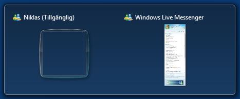 Dubbla fönster Windows Live Messenger