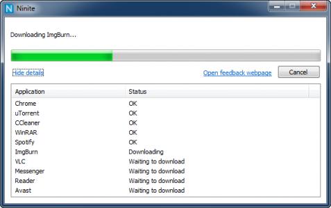 Ninite installerar program