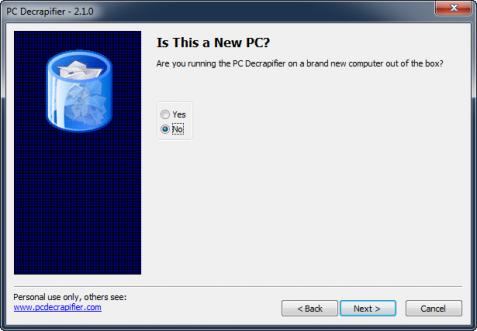 PC Decrapifier - Ny dator eller inte