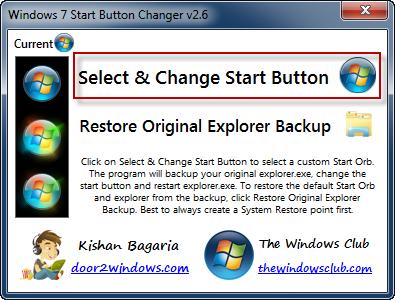 Byta startknapp med Start Button Changer