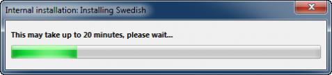 Vistalizator Språk installeras