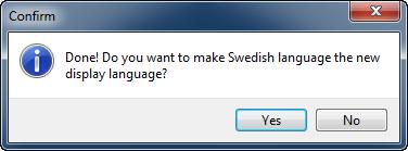 Vistalizator Nytt språk