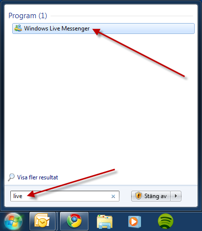 Starta Windows Live Messenger