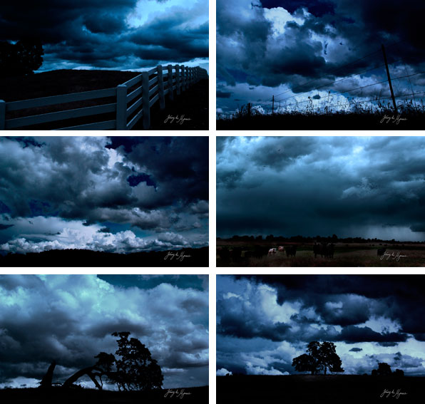 Bakgrundsbilder från temat Mörka moln