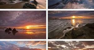 Bakgrundsbilder till temat stränder i solnedgång