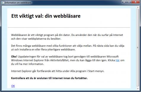 Information om val av webbläsare