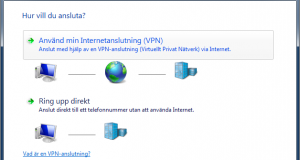 Skapa en VPN-anslutning i Windows 7