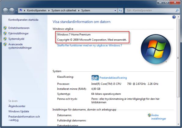 Windows 7 utan SP1