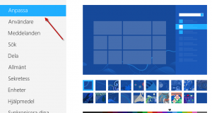 Anpassa startskärmen i Windows 8