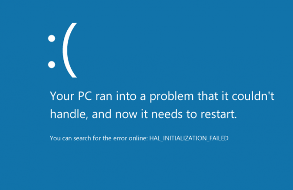 HAL_INITIALIZATION_FAILED felmeddelande i Windows 8