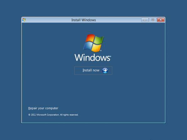 Installation av Windows 8 Developer Preview