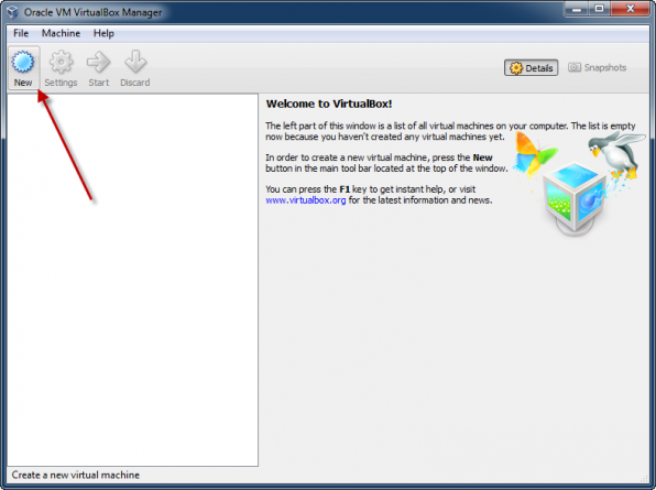 Windows 8 installation i VirtualBox