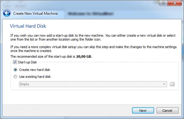 Windows 8 installation i VirtualBox