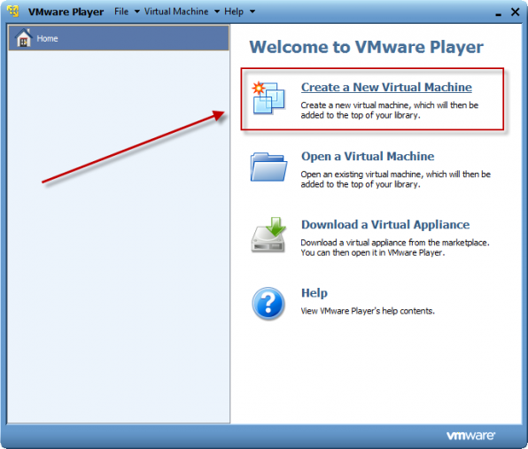 Windows 8 installation i VMware Player