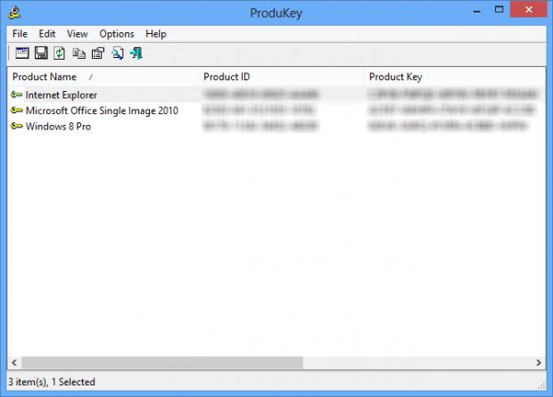 ProduKey i Windows 8