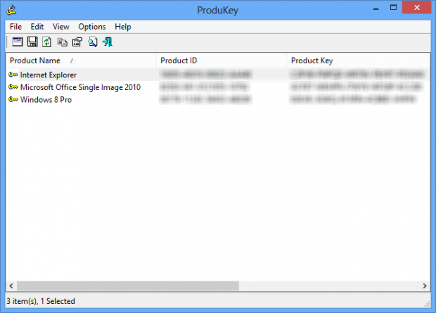 ProduKey i Windows 8