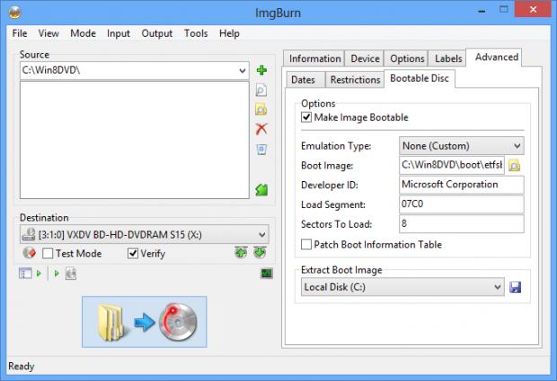 Skapa en bootbar Windows 8 DVD