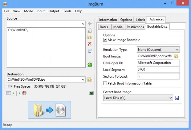 Skapa bootbar Windows 8 ISO