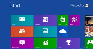 Startskärmen i Windows 8