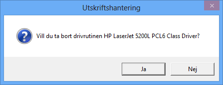 Radera skrivardrivrutiner i Windows 8