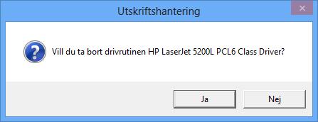 Radera skrivardrivrutiner i Windows 8
