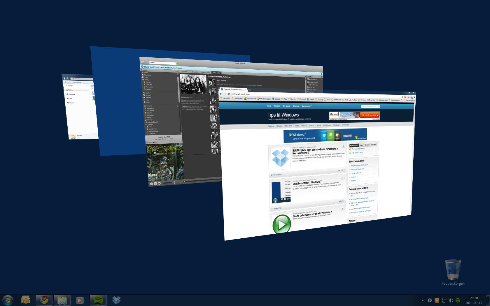 vända på skärmen windows 7