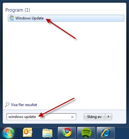 Starta Windows Update